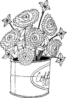 hard flower coloring pages - Hard Flower Coloring Pages