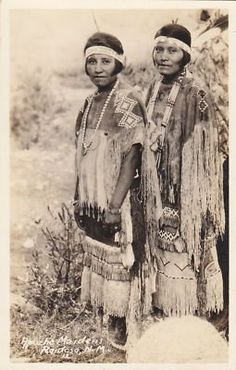 Mescalero Apache women at Ruidoso, New Mexico - circa 1942