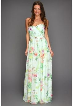 Ted Baker Serlant Wallpaper Floral Print Maxi Dress Mint Apparel Ted Baker