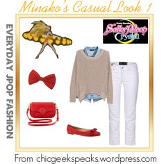A casual outfit inspired by that worn by Minako/Sailor Venus in the opening theme of the new anime series Sailor Moon Crystal. You can find all the Crystal opening theme inspired looks by checking out the full article at http://chicgeekspeaks.wordpress.com/2014/07/08/everyday-jpop-fashion-sailor-moon-crystal-casual-inspired-looks/