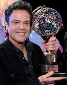 Donny Osmond with Dancing With The Stars trophy