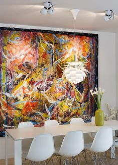 large scale abstract makes the room