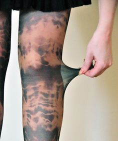 Tutorial on How To Tie Dye Pantyhose. This looks too cool, I will have to experiment with this. The unicorn ones are my absolute favorite!