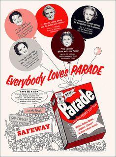 Parade Laundry Soap Ad, 1953 - everyone loves parade!