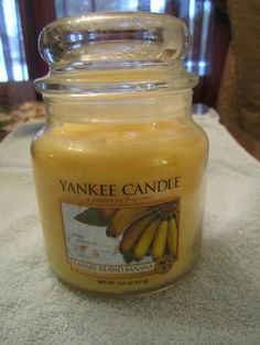 My fave Yankee candle ever! And they dont make it anymore :( Canary Island Banana Yankee Candle