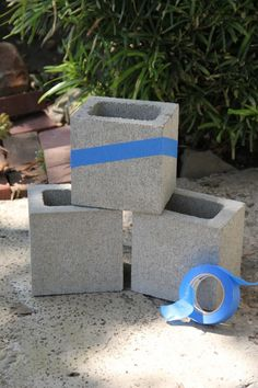 cinder block planter diy
