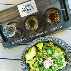 Tequila  guacamole = Perfect evening! Thanks at @josepepehermosillo & @casanobletequila for a lovely dinner at @mineroatl @poncecitymarket! #darngoodtequila #blanco #resposado #anejo #tequila #tasting #atlantafood #drinks