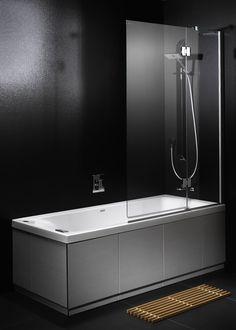 Wall featuring Laminam Filo Pece. Porcelain Tile, Bathtub, Bathrooms, Interiors, Home, Design, Ideas, Standing Bath, Bathroom