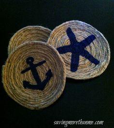 DIY Nautical coasters #crafts