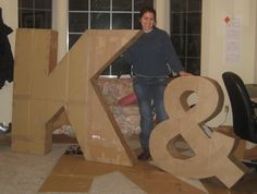 holy smokes, that's a really big letter! i coud make that...