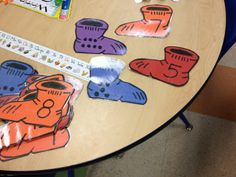 """Dot & Number match game for Pre-K inspired by Dr. Seuss' """"Fox in Socks"""""""