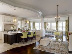 beautiful kitchen, tile transition to wood floor works here – Jules Duffy Design