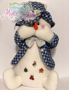Dolls, Christmas Ornaments, Holiday Decor, Tela, Snow, Holiday Ornaments, Cloth Art Dolls, Christmas Crafts, Trapillo