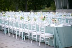 #Pastel blue wedding reception... Wedding ideas for brides, grooms, parents & planners ... https://itunes.apple.com/us/app/the-gold-wedding-planner/id498112599?ls=1=8 … plus how to organise an entire wedding ♥ The Gold Wedding Planner iPhone App ♥