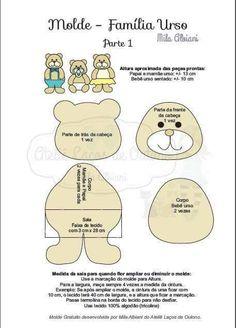 (1) Familia urso coisa + fofura!! - Feltro Fácil - Moldes e Apostilas