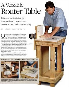 #2200 Horizontal Router Table Plans - Router