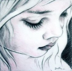 drawings of faces art | ... Duffy Art - Drawing, Black and White, Beautiful Child face drawing