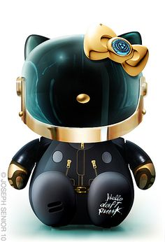 Gold Daft Punk Hello Kitty