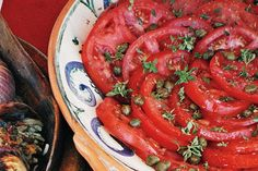 Find the recipe for Tomato Salad with Shallot Vinaigrette, Capers, and Basil and other shallot recipes at Epicurious.com