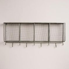 One of my favorite discoveries at WorldMarket.com: Metal and Wood Braedyn Wall Storage