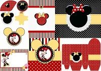 Divertidos Imprimibles Gratis de Minnie Mouse Rojo.
