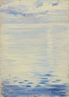 """THEGERSTRÖM, Robert (1857-1919)/ """"Sunny Haze, Dalarö"""""""