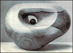 henry moore - abstract organisch Dit kunstwerk spreekt mij heel erg aan doordat het een vloeiende organische beweging heeft die door de inham ineens een andere kant opgaat. Het balletje in het kunstwerk vind ik maar niks omdat dit de vloeiende beweging uit het werk haalt.