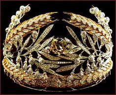 Russian Field Tiara made with diamonds & gold. From the Romanov Royal collection.