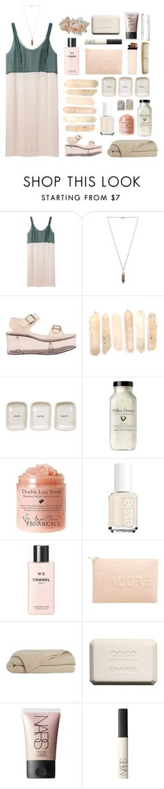 """kind of miss loving someone"" by sedgydavo ❤ liked on Polyvore featuring Cacharel, Pamela Love, Y.R.U., Essie, Chanel, Miss Selfridge and NARS Cosmetics"