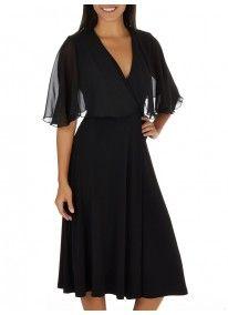 edit | Cape Smart Dress Black