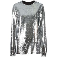 81763ab783652 MSGM metallic sequinned blouse ( 399) ❤ liked on Polyvore featuring tops