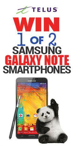 Win 1 of 2 Samsung Galaxy Note Smartphones