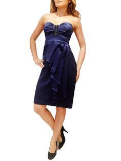 BLUMARINE NAVY BLUE BEADED DRESS.46/L $295  http://www.boutiqueon57.com/products/blumarine-beaded-dress-42