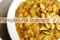a simple real food recipe :: pumpkin pie oatmeal