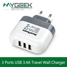 MyGeek 5V 3a 2a USB Wall Chargers EU UK Plug Fast Charging Travel Charger for iPhone 5 6 7 iPad mobile phone accessories parts