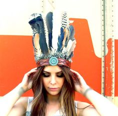 Queen of the Slipstream Headdress by ElectriqueLadyland on Etsy
