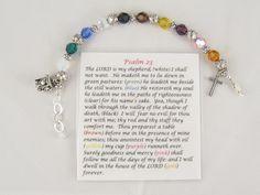 Psalm 23 prayer bracelet. From my grandparents store, Maxus designs.