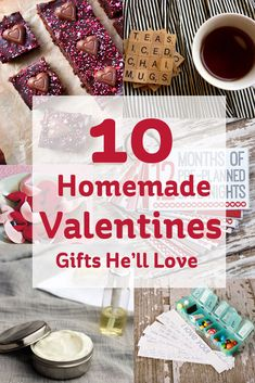 Treat the man in your life to a lovely homemade Valentines gift he'll love, with our top ten round up of the best craft projects out there for you to try.