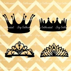 Crown SVG cut files, Tiara SVG files, Royalty dancers svg, Cricut, Dxf, PNG, Vinyl, Eps, Cut Files, Clip Art, Vector, Silhouette by SVGEnthusiast on Etsy