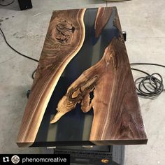Framed and ready for resin fills furniture design industrial mnmade metal metalfab woodandsteel woodandmetal woodwork wood WoodworkingFurnitureDesign Epoxy Wood Table, Epoxy Resin Table, Wooden Tables, Wood Slab Table, Resin Table Top, Diy Epoxy, Resin Furniture, Woodworking Furniture, Furniture Design