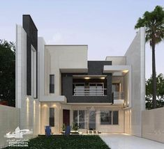 The exterior is the face of the house that everyone will see in the first part. Take a look at the world's most awesome homes and find inspiration in House Architecture Styles, Residential Architecture, Modern Architecture, House Roof Design, Unique House Design, Small House Decorating, House Elevation, Home Design Plans, House Front