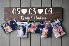 Ideas For Wood Picture Display Christmas Gifts Picture Boards, Picture On Wood, Moon Crafts, Diy Wood Signs, Vinyl Crafts, Diy Birthday, Photo Displays, Custom Photo, Boyfriend Gifts