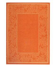 Look at this Terracotta Ferns Rug on #zulily today!