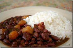 arroz blanco y las habichuelas