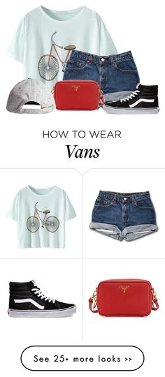 """ehh"" by xxxaverixxx on Polyvore featuring Prada, H&M and Vans"