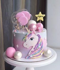 Easy Unicorn Cake, Unicorn Cake Pops, Beautiful Cakes, Amazing Cakes, Snowflake Wedding Cake, Birthday Cake Girls, Unicorn Birthday, 14th Birthday Cakes, Birthday Kids