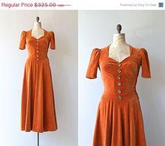 25% OFF... Wild Calla dress  vintage 1930s dress  by DearGolden