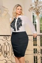 FC8508 -Conjunto Executiva Plus Size Fasciniu's