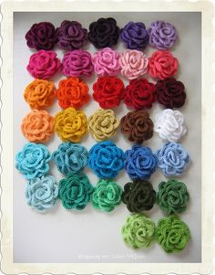 podkins:  Rainbow Roses hand crafted by a lovely lady called...