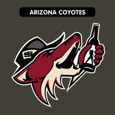 Las Vegas and the NHL have been in the news a lot lately -- with the promise of more to come. So it got us thinking: What would today's team logos look like with a Vegas theme? Nhl Logos, Sports Team Logos, Vegas Theme, Arizona Coyotes, National Hockey League, Las Vegas, Future, News, American